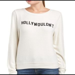 Wildfox hollywouldn't sommers long sleeve sweater